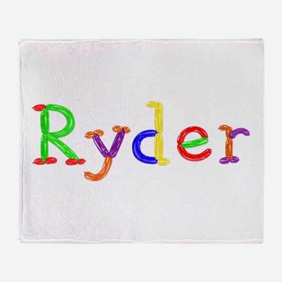 Ryder Balloons Throw Blanket