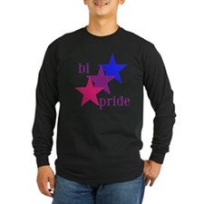 Bi Pride Stars Long Sleeve T-Shirt