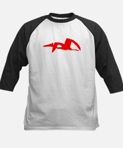Pterodactyl Silhouette (Red) Baseball Jersey