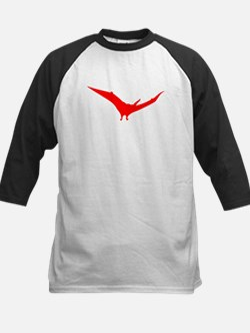 Pteranodon Silhouette (Red) Baseball Jersey