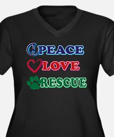 Peace Love Rescue Plus Size T-Shirt