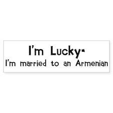 Married to an Armenian (2) Bumper Bumper Sticker