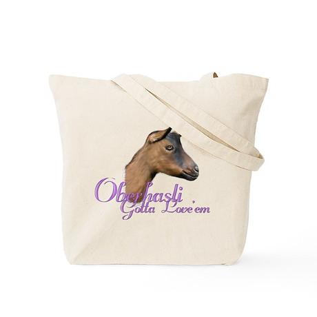 Oberhasli Goat Gotta Love'em Tote Bag