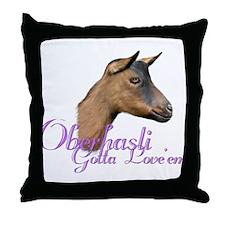 Oberhasli Goat Gotta Love'em Throw Pillow
