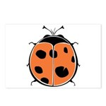 Cute Round Ladybug Postcards (Package of 8)