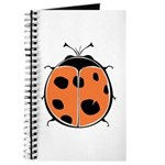 Cute Round Ladybug Journal