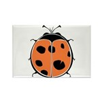 Cute Round Ladybug Rectangle Magnet (10 pack)