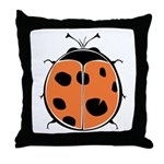 Cute Round Ladybug Throw Pillow