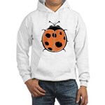 Cute Round Ladybug Hooded Sweatshirt