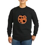 Cute Round Ladybug Long Sleeve Dark T-Shirt