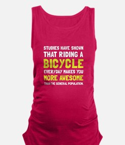 Bicycle More Awesome Maternity Tank Top