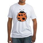 Cute Round Ladybug Fitted T-Shirt