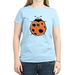 Cute Round Ladybug Women's Light T-Shirt