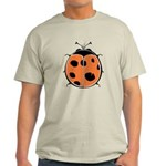 Cute Round Ladybug Light T-Shirt