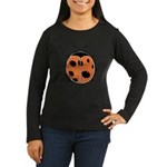Cute Round Ladybug Women's Long Sleeve Dark T-Shir