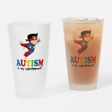 Autism is my superpower! Drinking Glass