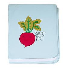 Sweet Beet baby blanket