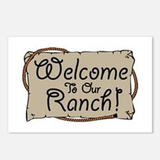 Welcome To Our Ranch! Postcards (Package of 8)