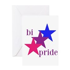 Bi Pride Stars Greeting Cards