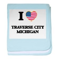 I love Traverse City Michigan baby blanket
