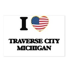 I love Traverse City Mich Postcards (Package of 8)