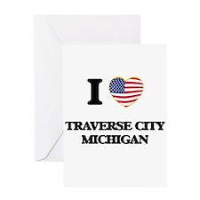 I love Traverse City Michigan Greeting Cards
