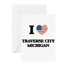 I love Traverse City Michigan Greeting Cards