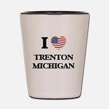 I love Trenton Michigan Shot Glass