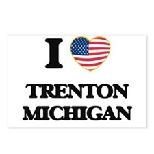 I love Trenton Michigan Postcards (Package of 8)
