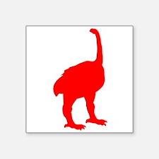 Euryapteryx Silhouette (Red) Sticker