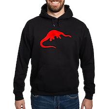 Diplodocus Silhouette (Red) Hoodie