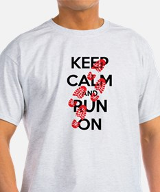 Funny Keep calm and run on T-Shirt