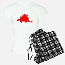Stegosaurus Silhouette (Red) Pajamas