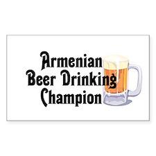 Armenian Beer Champ Rectangle Decal