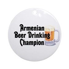 Armenian Beer Champ Ornament (Round)