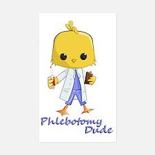 Phlebotomy Dude Sticker (Rectangle)