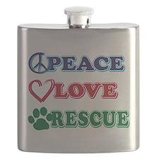 Peace Love Rescue Flask