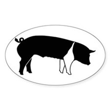 Another Pig Oval Decal