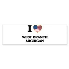 I love West Branch Michigan Bumper Bumper Sticker