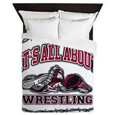 It's All About Wrestling Queen Duvet