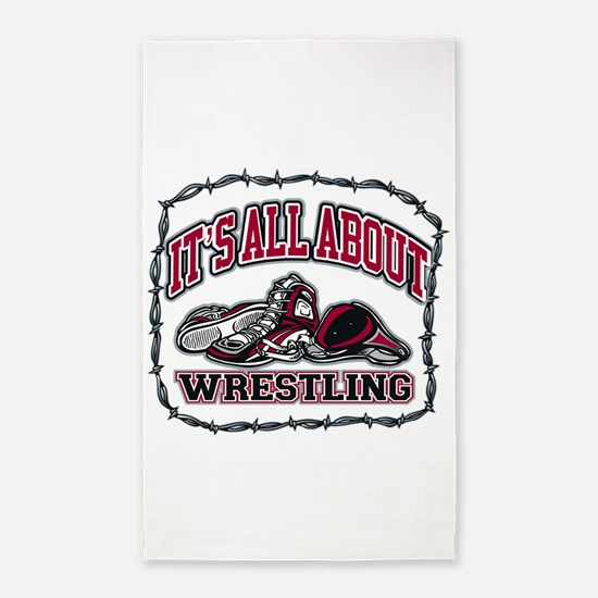 It's All About Wrestling Area Rug