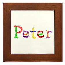 Peter Balloons Framed Tile