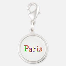 Paris Balloons Silver Round Charm