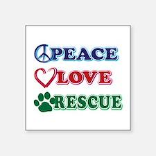 Peace Love Rescue Sticker