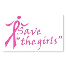 Save the Girls Rectangle Decal