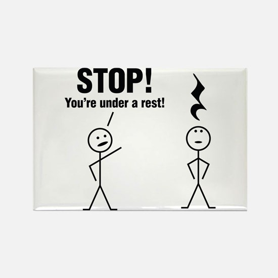 Stop! You're under a rest! Magnets