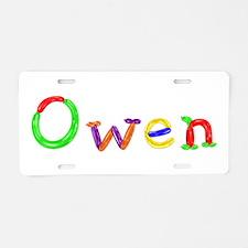 Owen Balloons Aluminum License Plate