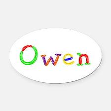 Owen Balloons Oval Car Magnet