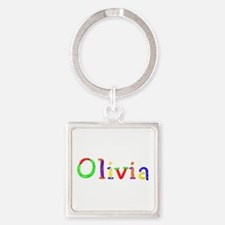 Olivia Balloons Square Keychain