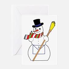 The Masonic Snowman Greeting Card